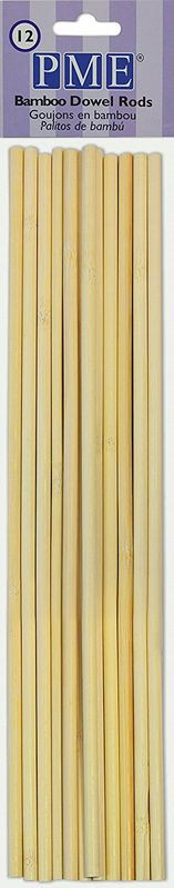 PME - bamboo dowel 12 stk